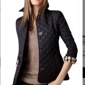 NWOT Burberry  Diamond Quilted Jacket